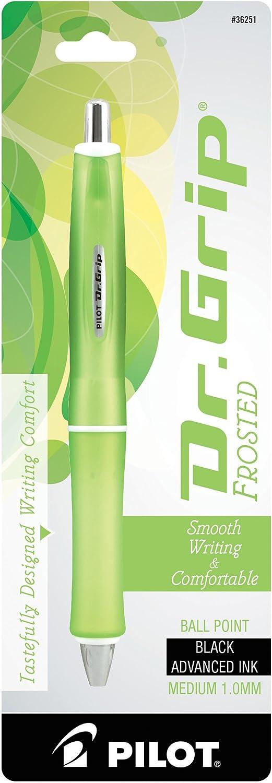 Single Pen 1 Medium Point Black Ink PILOT Dr Purple Barrel Grip Frosted Refillable /& Retractable Ballpoint Pen