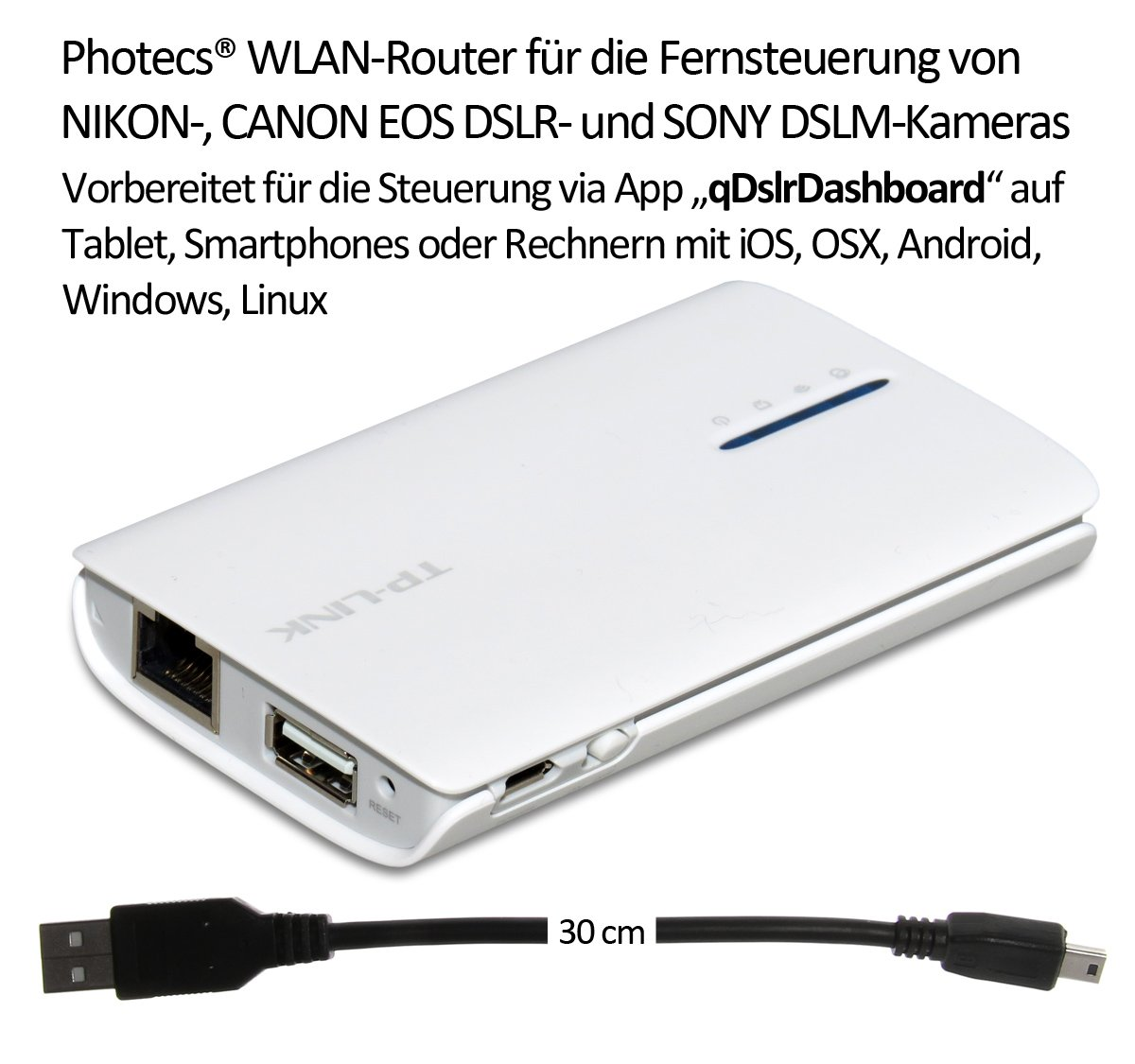 Photecs® &apos DSLR adaptador Set Wi-Fi Pro, 11 piezas