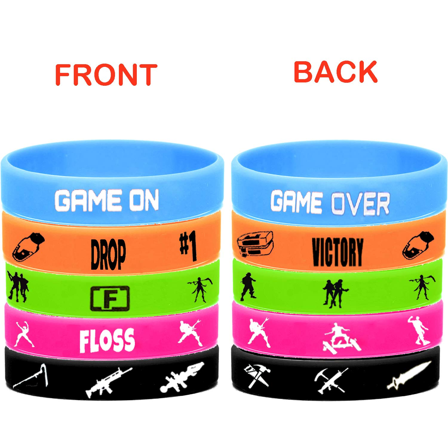 Set of 40 Stickers for Kids Game Party Supplies 15 Pack Bracelet 67 Pack Gaming Set Party Favors 12 Pack Button Pins