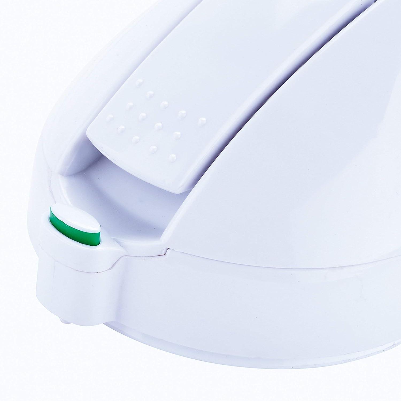 MSV ASIDERO DE Apoyo con VENTOSAS E INDICADOR DE Seguridad Blanco 52.5x21x2.2000000000000002 cm Aluminio y Polipropileno
