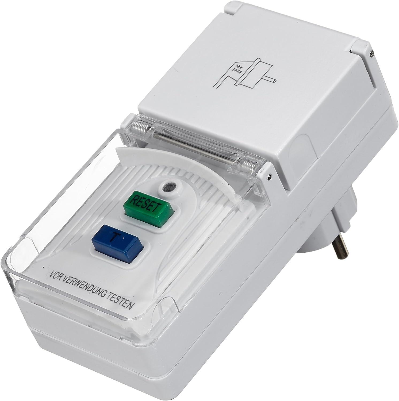 Unitec 41759 Personenschutz Adapter Für Innen Und Auߟen Ip44 Ws Weiߟ Baumarkt