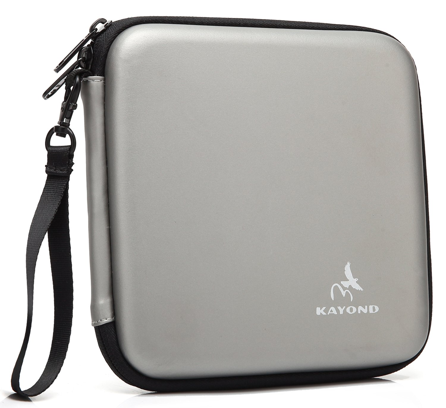 KAYOND Portable Hard Carrying Travel Storage Case for External USB, DVD, CD, Blu-ray Rewriter/Writer and Optical Drives (Gray) by kayond