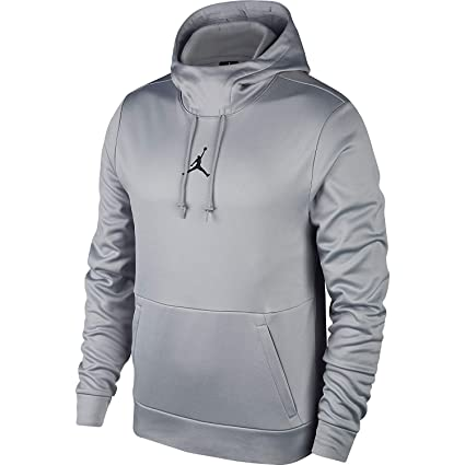 94d37a374c0b15 Image Unavailable. Image not available for. Color  Nike Mens Jordan Therma  23 Training Pull Over Hoodie Wolf Grey Black ...