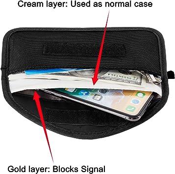 Antivol Lock Appareils Protection de la Vie Priv/ée de S/écurit/é WiFi//GSM//LTE//NFC//RF Blocke Cl/é de Voiture de Signal Blocker Coque de s/écurit/é,acc/ès sans Cl/é Fob Guard Signal Blocage Sac Pochette