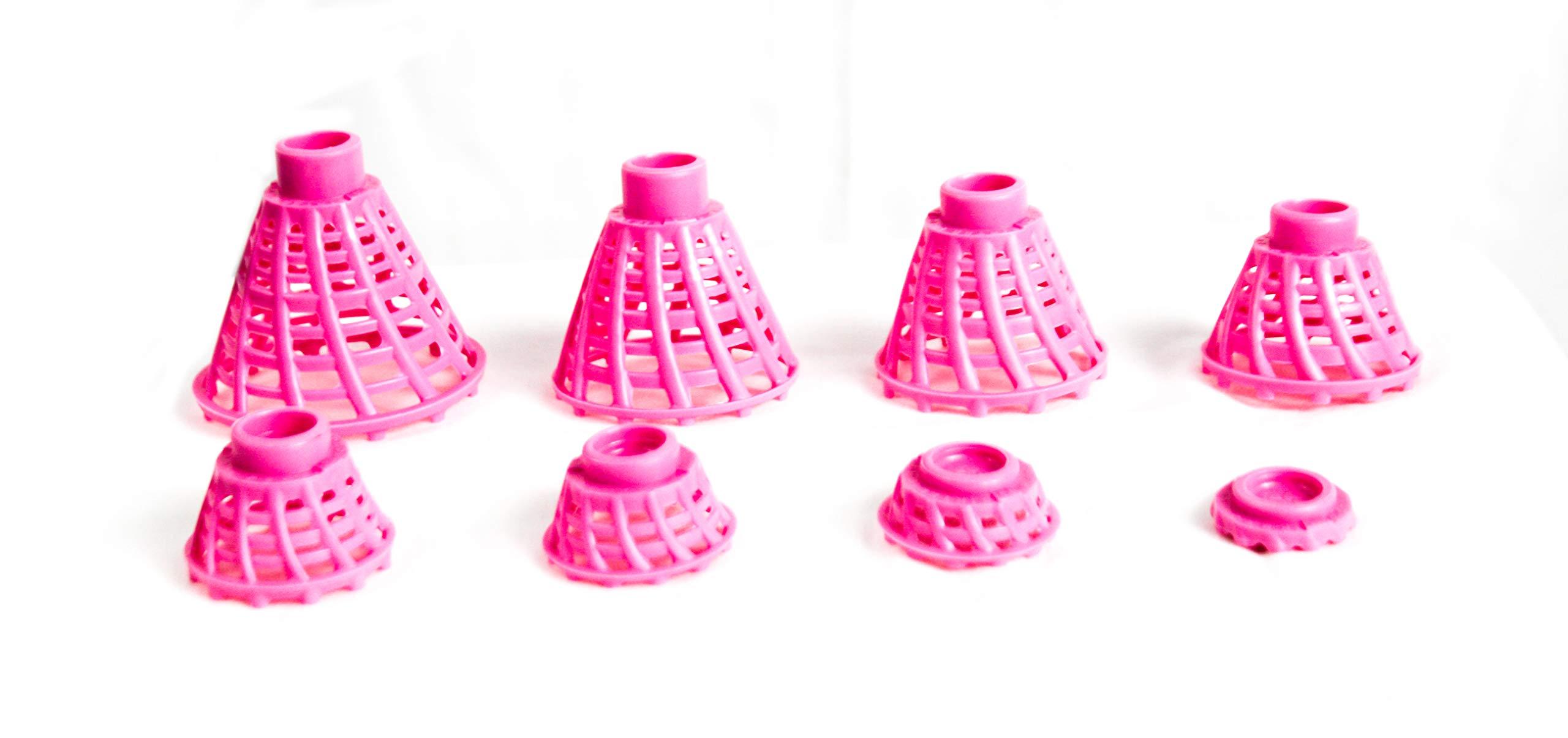 BirTee Pro Winter/Mat Golf Tees - 8 Pack (Bright Pink) by BirTee
