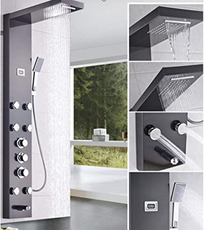 Saeuwtowy - Columna de ducha con chorros de masaje, sistema ...