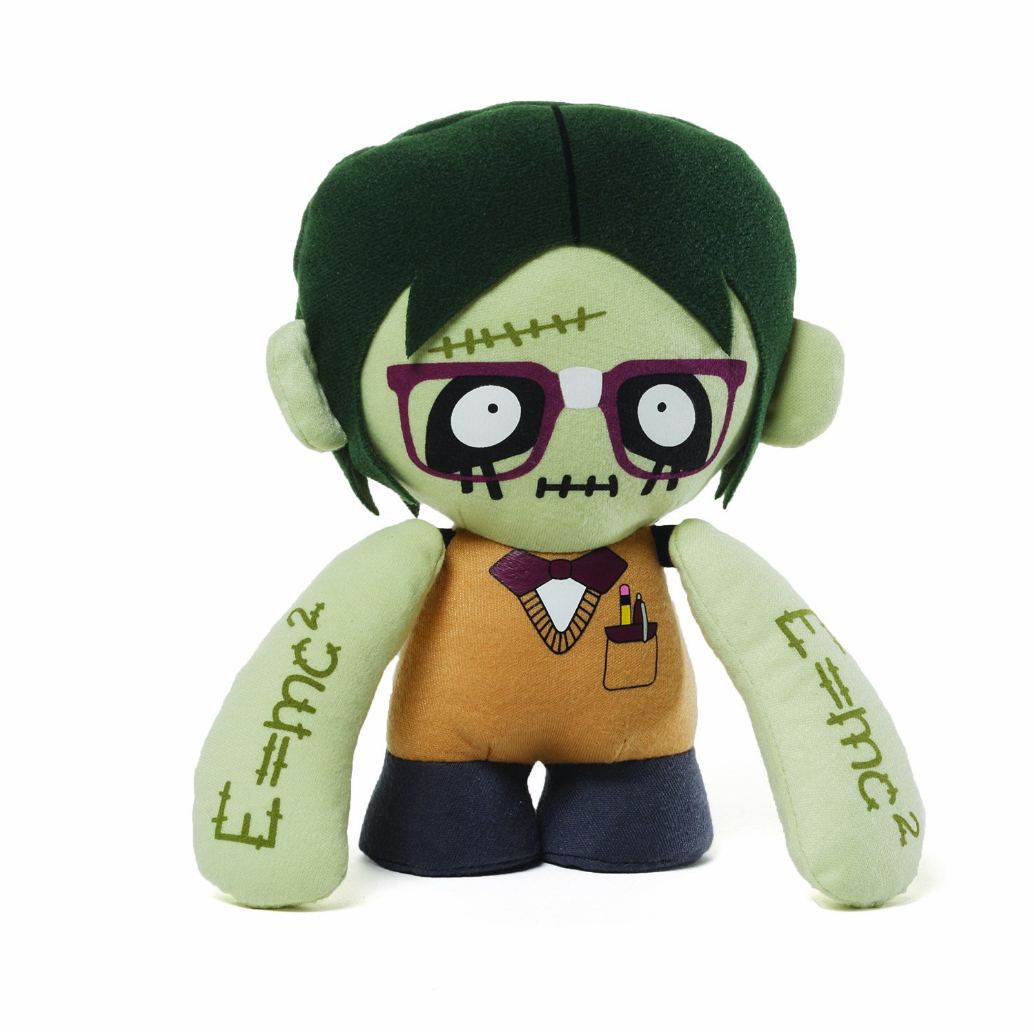 Gund Green Zombie Nerd Plush Soft Toy Design