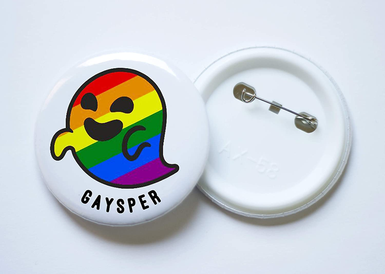 Gaysper Gasper Chapa de 59 mm di/ámetro Lote de 15 Unidades Novedad chapas Personalizadas Eventos Fiestas Celebraciones