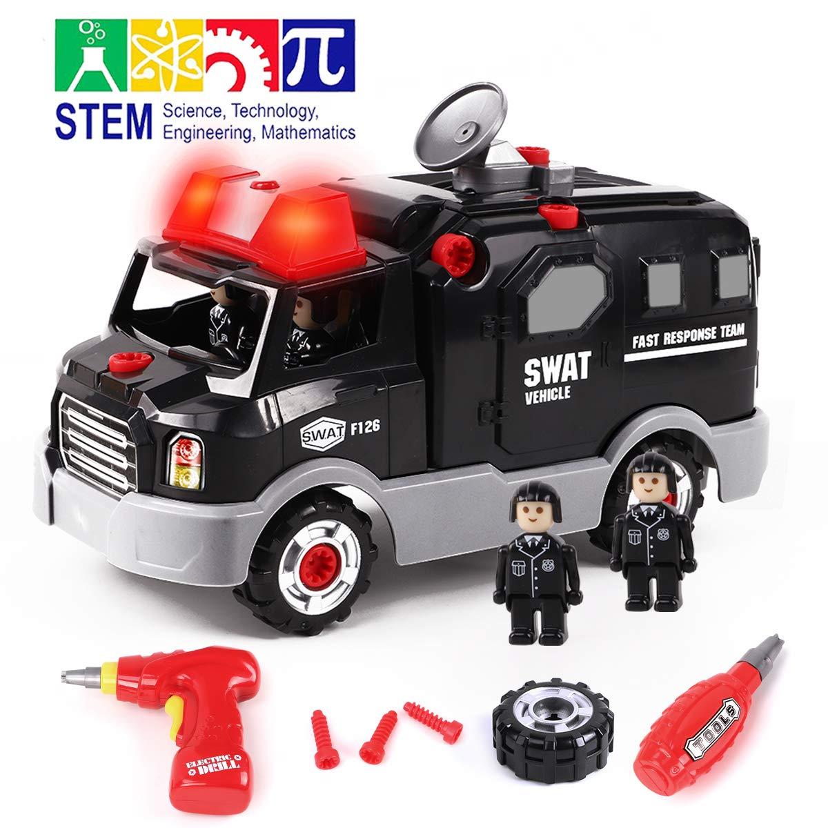 Gilobaby 組み立ておもちゃ DIY 車セット
