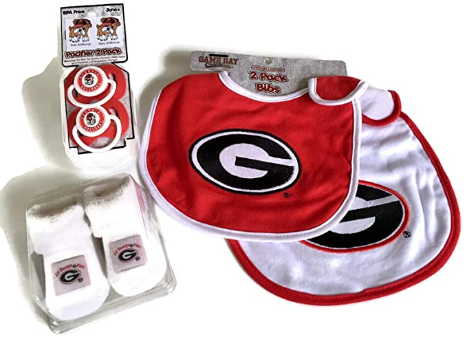 Amazon.com: Georgia Bulldogs Set de regalo para bebé rojo ...