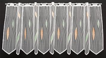 Scheibengardine Weiß Fenster 100cm  Gardine 50,40,50,40,50cm Scheibengardinen