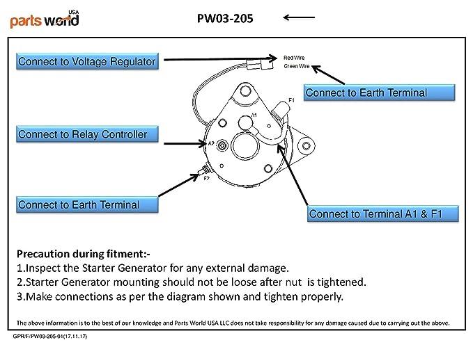 Amazon 15420n Starter Generator Yamaha Utv Yxp Ytf2 Ytf1 Ydra 2 Kohler Wiring Diagram Carry All: John Deere A Generator Wiring Diagram At Eklablog.co