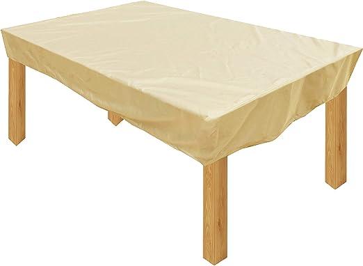 KaufPirat Premium Funda para Muebles de Jardín 160x90x15 cm Cubierta Impermeable Funda para Mesa para Mobiliario de Exterior Beige: Amazon.es: Jardín