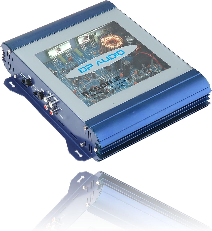 DP Audio Video DA500.2 2-Channel 500Watts MOSFET bridgeable Power Amplifier