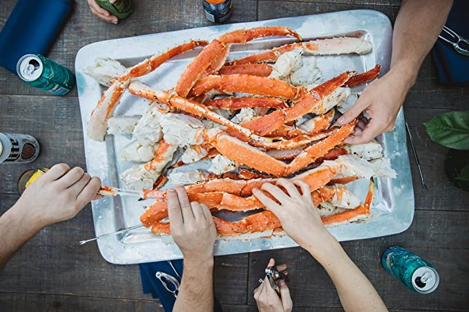 Alaskan Colossal Red King Crab Legs 10 Lbs Overnight Shipping Monday Thursday Amazon Com Grocery Gourmet Food