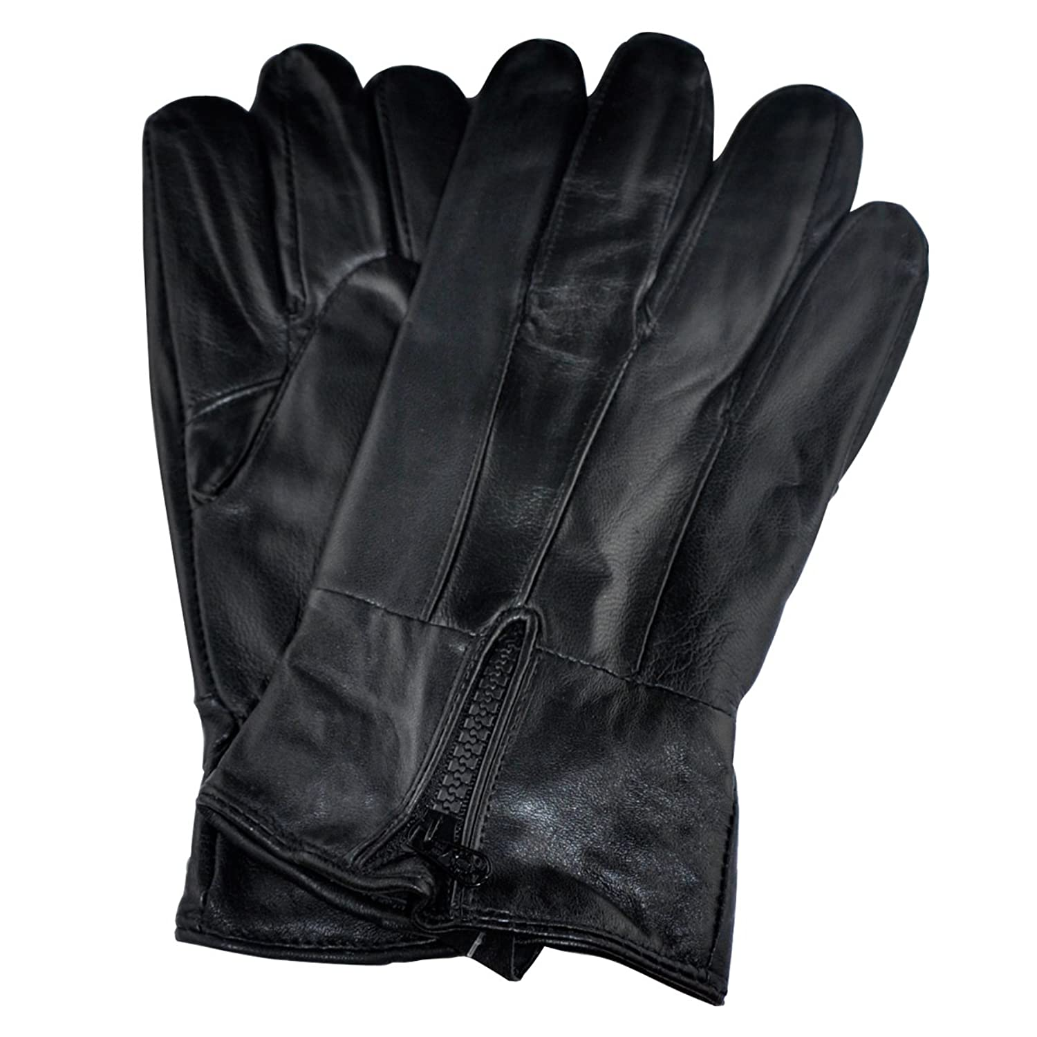 Samtee gm160 mens leather gloves with zipper black - Amazon Com Samtee Gm160 Mens Leather Gloves With Zipper Black Extra Large Clothing