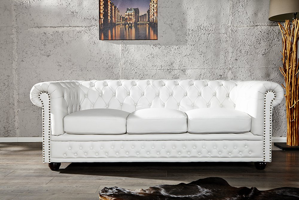 Invicta Interior 11222 Chesterfield Sofa 3-er mit Nietenbesatz ...