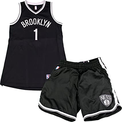 cheaper 595a9 62b77 Chris McCullough Brooklyn Nets Game Used #1 Black Jersey ...