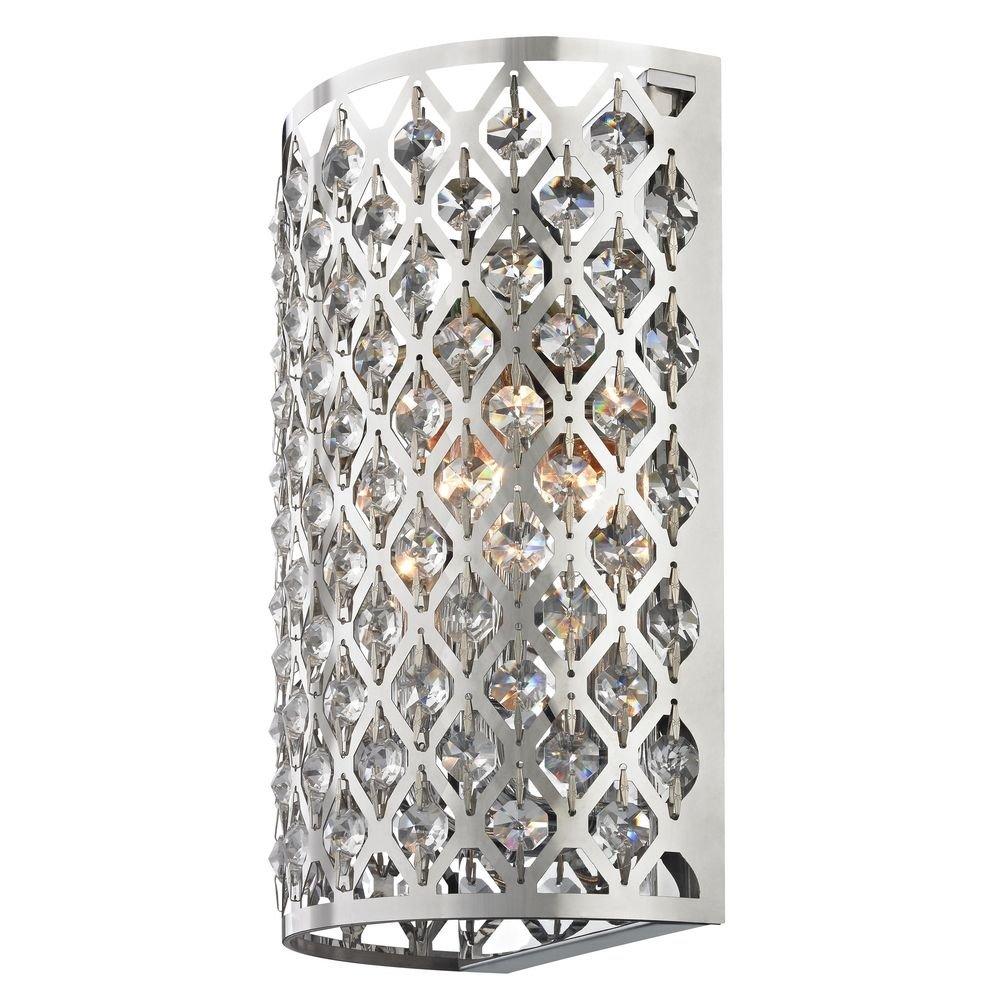 Amazon.com: Moderno vidrio aplique de pared con dos luces ...