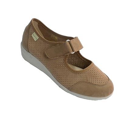 Doctor Cutillas Schuhputzfrau Sehr Breite Füße mit Klett Ferse und RIST Geröstetes Größe 35 VAY7EKq