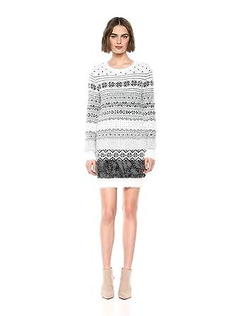884e4163a4 cupcakes and cashmere Women s Jordon Fluffy Jacquard Sweater Dress ...