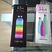 HoneyHolly Botella de Agua Acero Inoxidable sin BPA 350ml/500ml ...