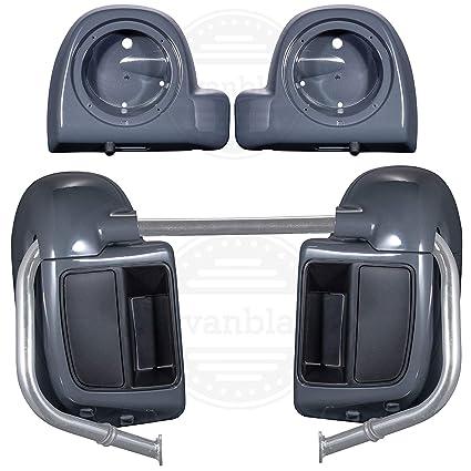 Gunship Gray Lower Vented Fairings 6 5 inch Speaker Pods Fit for Harley  Touring CVO Street Glide Road Glide 2018