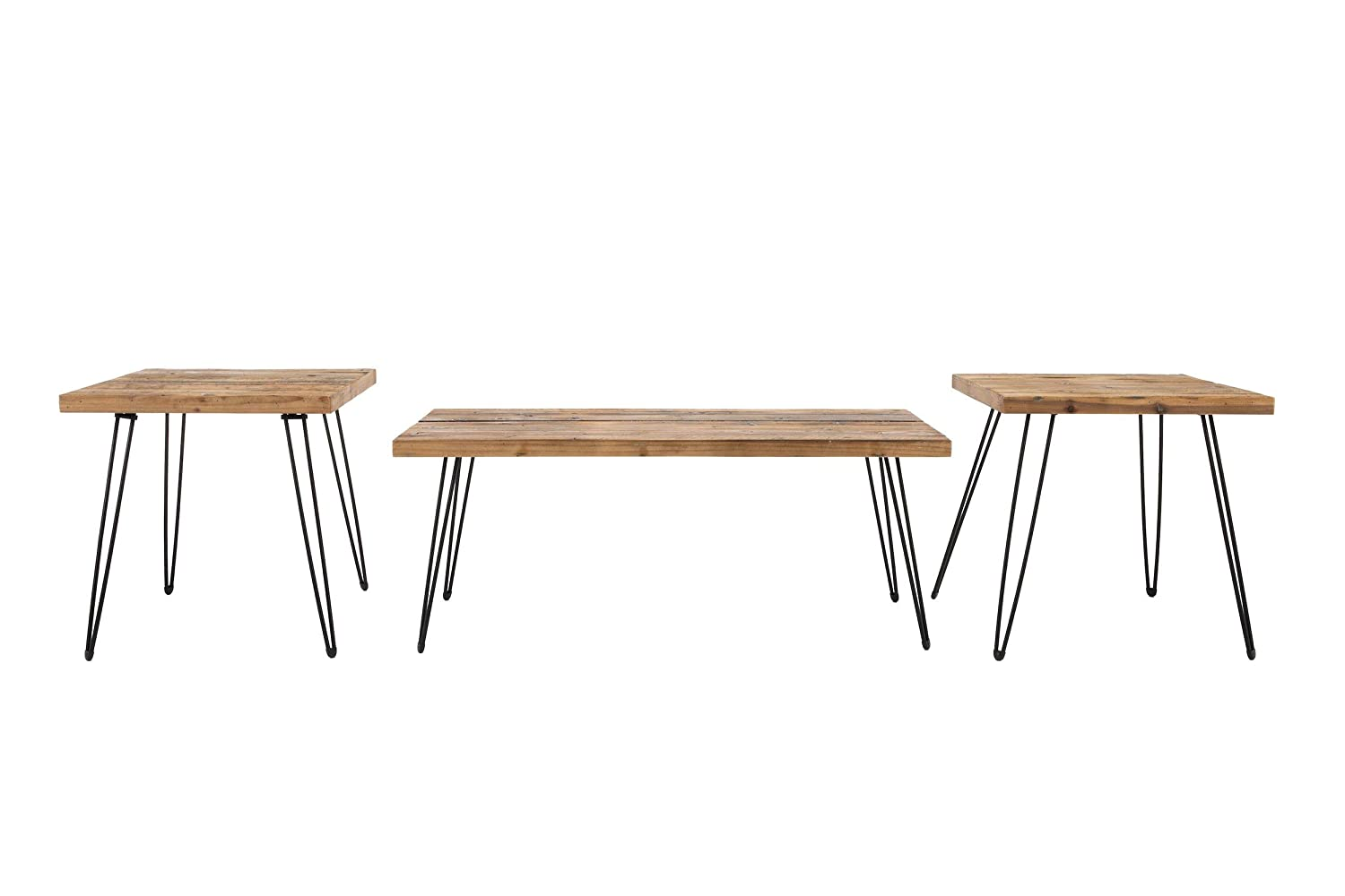 Belmont Home Reclaimed Wood and Metal Tables (Set of 3) Crawford and Burke AZ10254T3A
