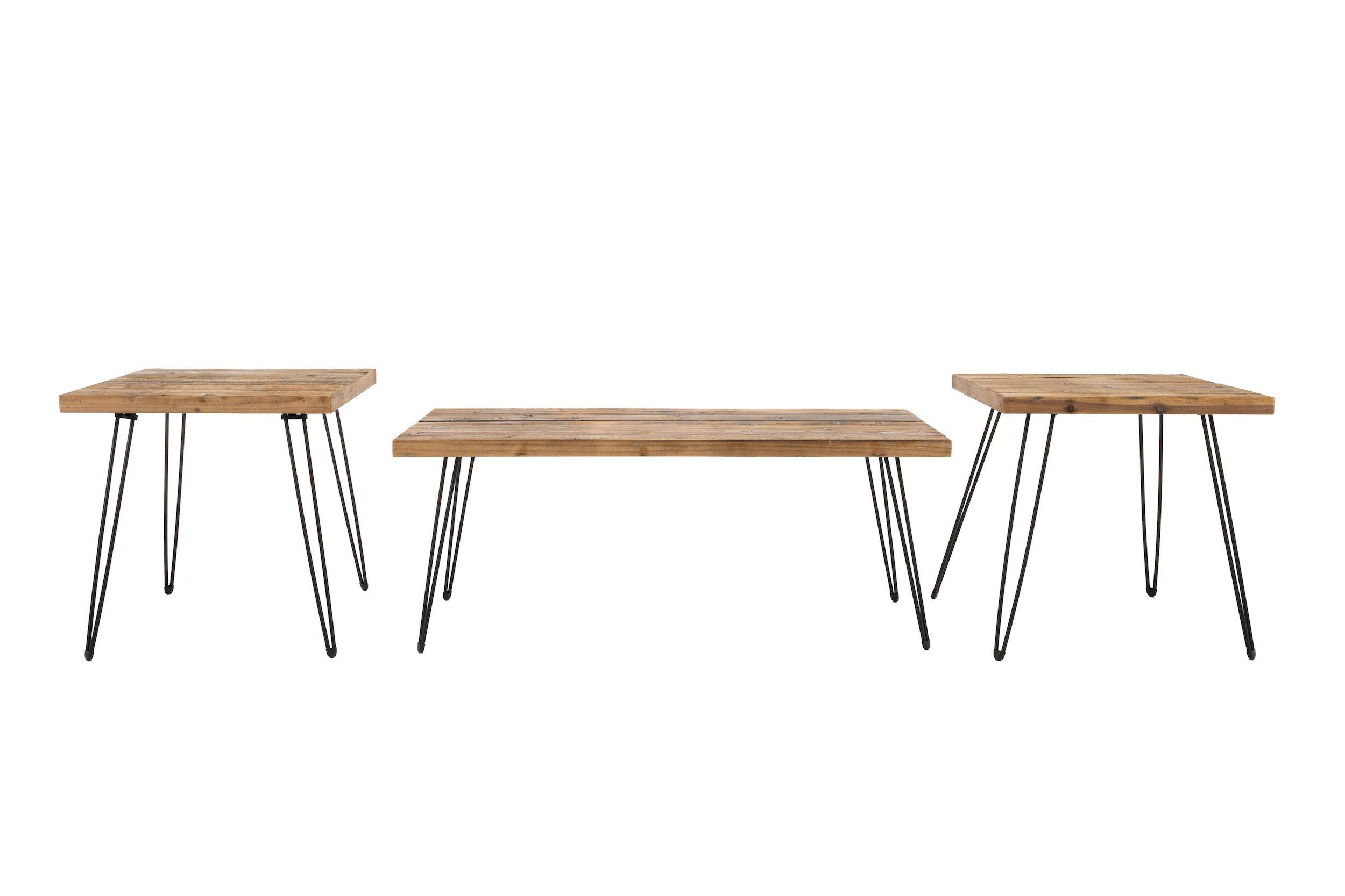 Belmont Home Reclaimed Wood and Metal Tables (Set of 3) by Belmont Home