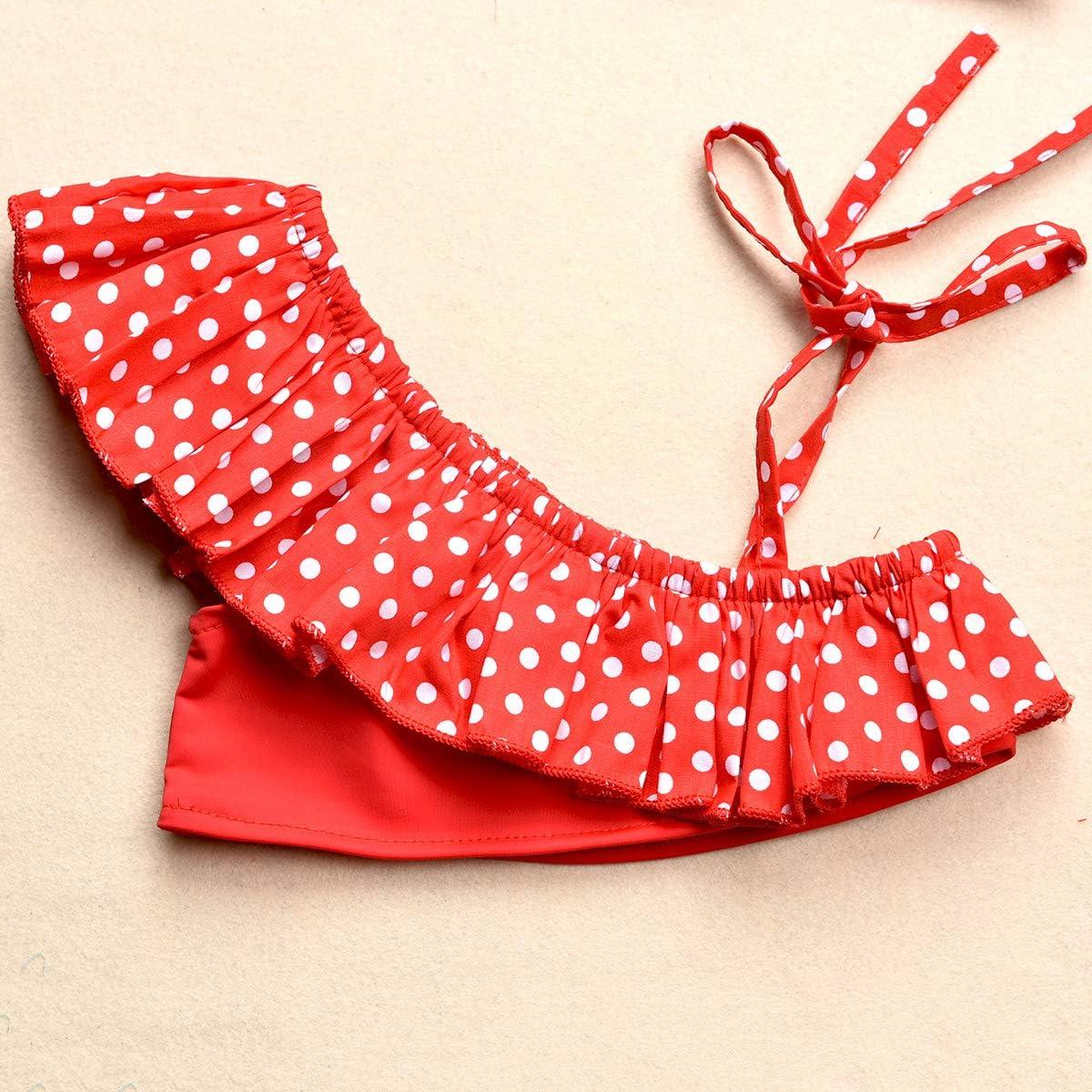 Baby Girls Two Piece Tankini Swimsuit Hawaiian Ruffle Swimwear Bathing Suit Set