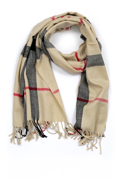 Klassischer Schal kariert in 6 Farben extra breit 180x65cm für Herren und Damen