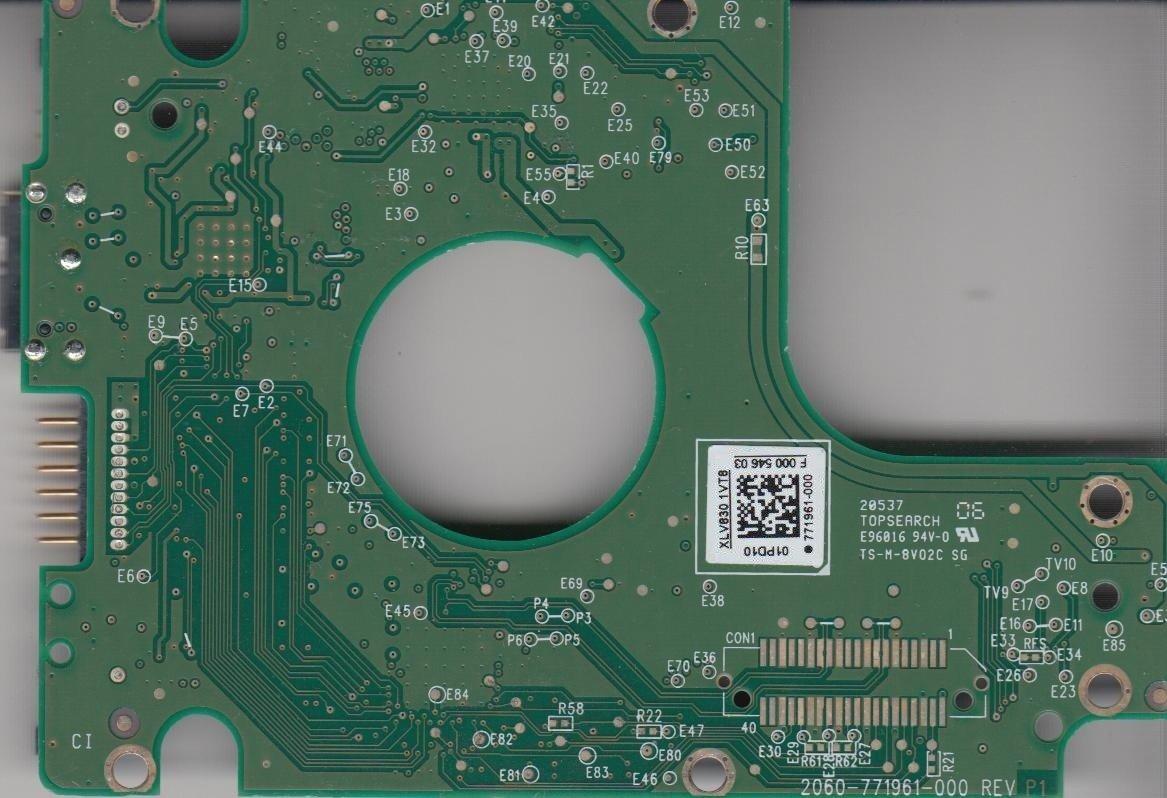 WD5000BMVW-11AJGS1, 771961-000 01PD10, WD USB 2.5 PCB Western Digital PCB-WD5000BMVW-11AJGS1