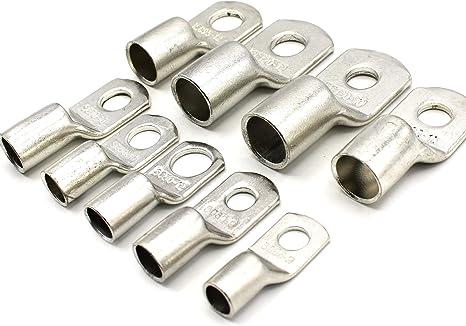 Neu 5 Stück Rohrkabelschuhe Ringkabelschuhe 25,0mm² M10 unisoliert Ringform