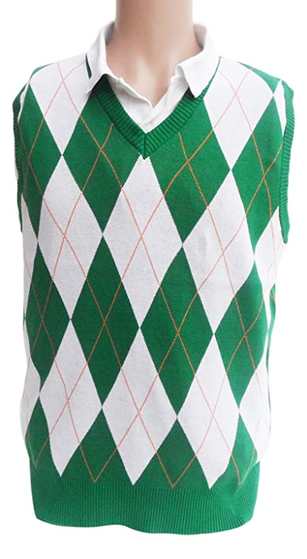 Amazon.com : Ireland Argyle Sweater Vest : Sports & Outdoors