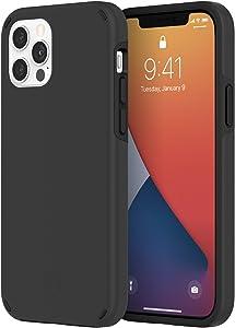 Incipio Duo Case Compatible with iPhone 12 & iPhone 12 Pro - Black/Black