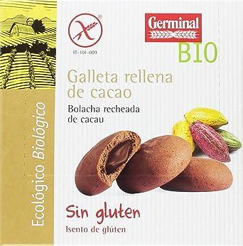 Germinal Galletas Sin Gluten Rellenas de Cacao - Paquete de 10 x 200 gr - Total