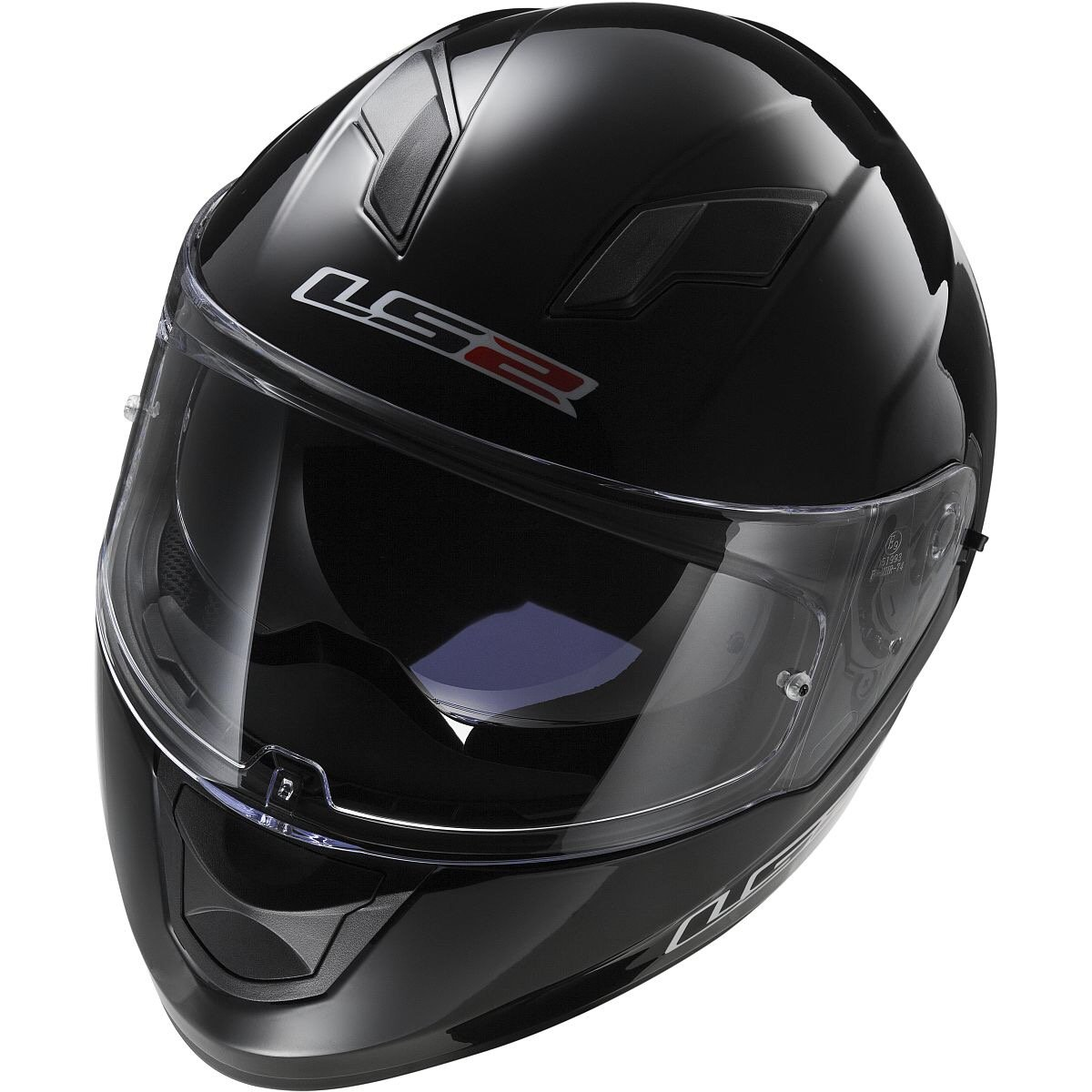 Black, X-Small LS2 Stream Solid Full Face Motorcycle Helmet With Sunshield