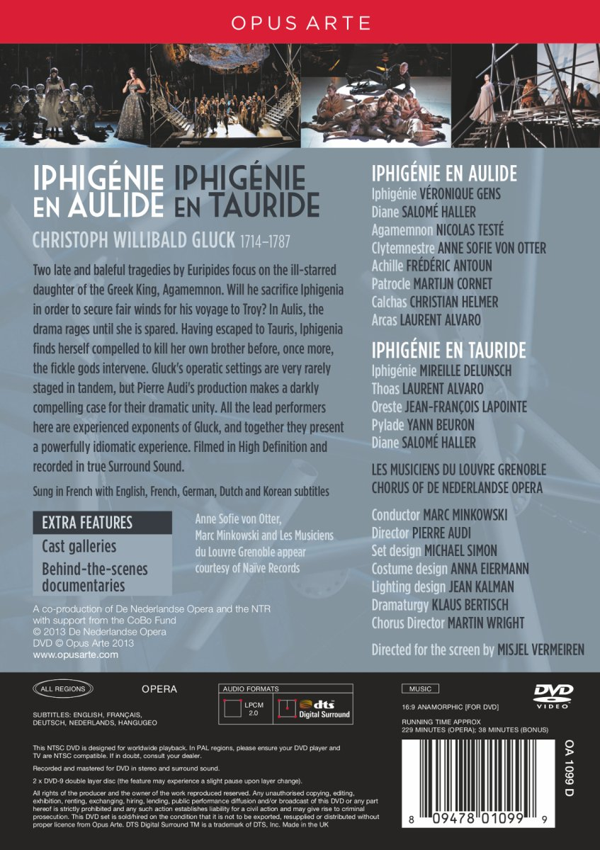 Amazon Iphigenie En Aulide Tauride Marc Minkowski Movies TV
