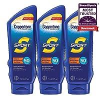 Coppertone SPORT Sunscreen Lotion Broad Spectrum SPF 50 Multipack (7 Fluid Ounce Bottle, Pack of 3)