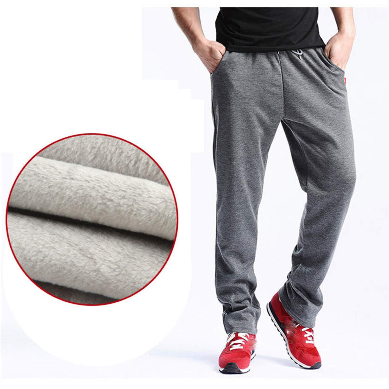 MRxcff New Mens Joggers Winter Thick Fleece Pants Men Straight Pants Mirco Velvet Sweatpants Men Joggers Casual Pants