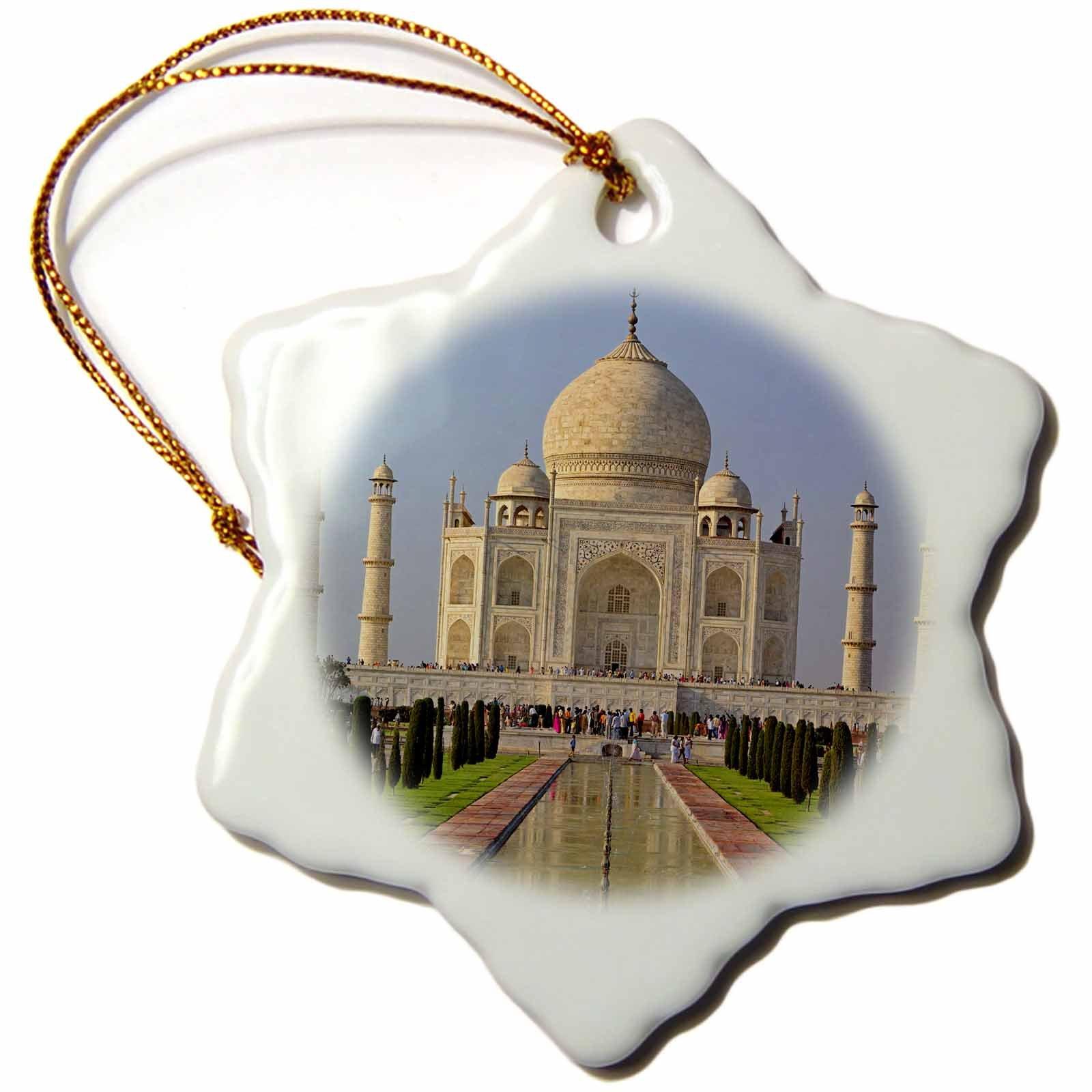 3dRose orn_75425_1 Taj Mahal, Agra, India-As10 Aje0014-Adam Jones-Snowflake Ornament, 3-Inch, Porcelain by 3dRose (Image #2)