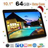 Smart Tablet 10.1pollici Andrews 6.04+ 64GB 10.1pollici Dual Sim Dual Standby 4G + 64G Android 6.0Dual Slot Dual Camera cellulare WIFI phablet Tablet PC nero nero 10''