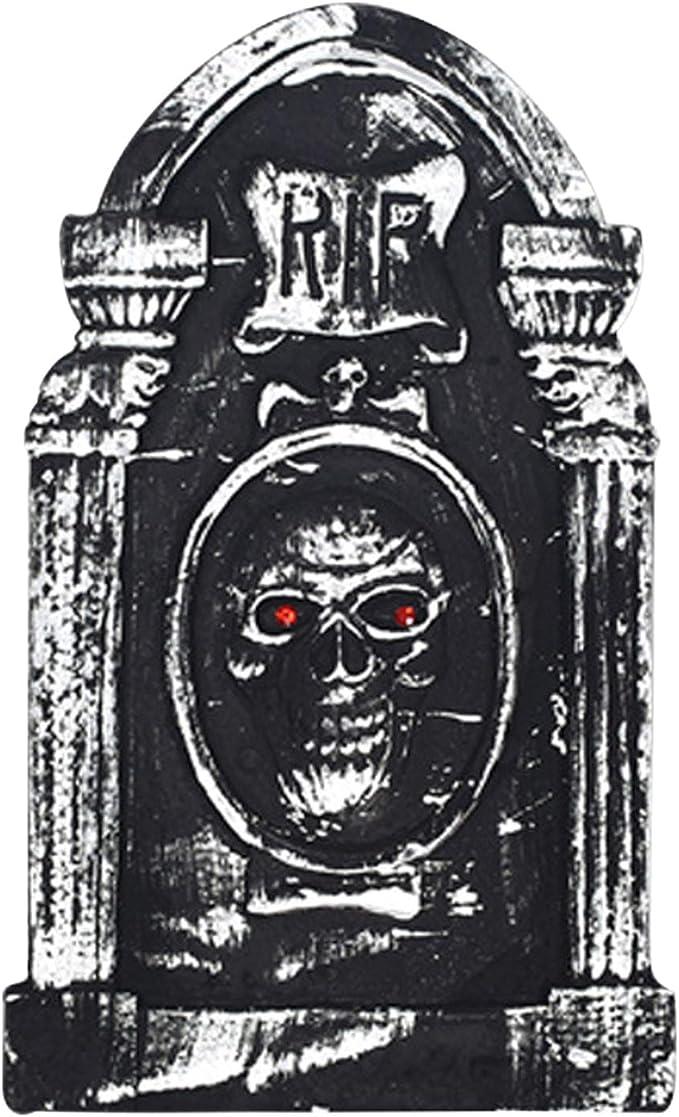 semen Pack de 4 Decoraciones de Halloween para casa embrujada de Espuma Ligera Tombstone gótico jardín Graveyard Estatua, Negro, M11:49 x 30.5 x 2cm/19.3 x 12.0 x 0.8: Amazon.es: Hogar