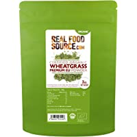 RealFoodSource Certified Organic Premium Wheatgrass Powder (1kg) (EU Grown)