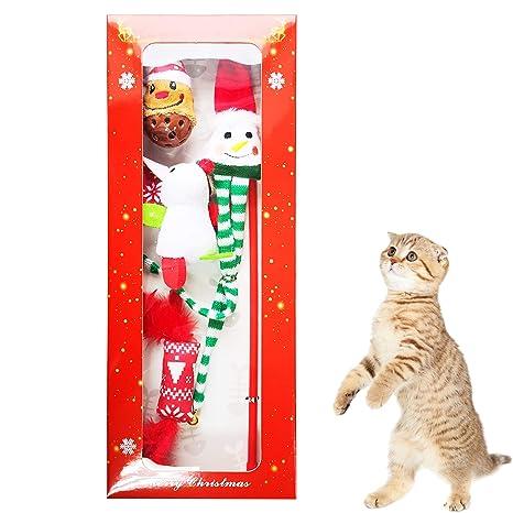 Vealind - Juguete Interactivo para Gatos, Gatos, Juguetes, en Caja de Regalo