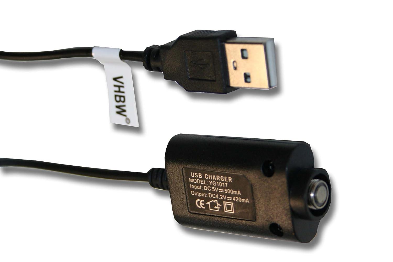 vhbw 0.25m USB cargador para eGo E-cigarrillo, cigarrillo electrónico, Shisha por eGo, eGo-T, eGo-C, eGo-Twist, eVod, 510. VHBW4251004605531