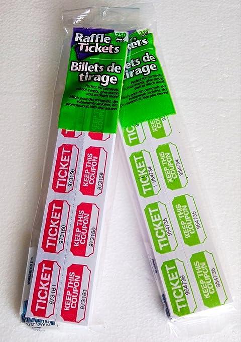 Boletos de la rifa/dibujo concurso puerta premio Bundle – 2 Paquetes De 250 (