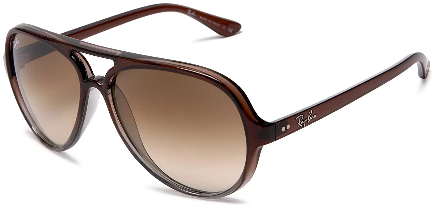 679f3e06d462d Amazon.com  Ray-Ban CATS 5000 - BROWN GRADIENT ON GRAY T Frame CRYSTAL  BROWN GRADIENT Lenses 59mm Non-Polarized  Ray Ban  Clothing