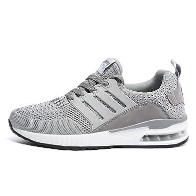 H-Mastery Sportschuhe Damen Herren Laufschuhe Turnschuhe Sneakers Gym  Fitness Atmungsaktives Leichte Schuhe(Grau b91750e4f0
