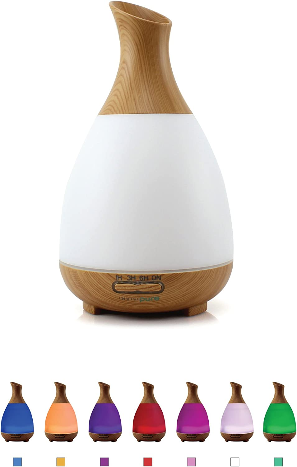 InvisiPure Alta Cool Mist Humidifier Aromatherapy Diffuser, Essential Oil Diffuser, BPA Free – 200ml – Simple to Use Humidifier for Bedrooms, Travel, Portable and Small in Size